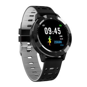 Image 2 - SENBONO CF58 Smart watch IP67 waterproof Tempered glass Activity Fitness tracker Heart rate monitor Sports Men women smart band