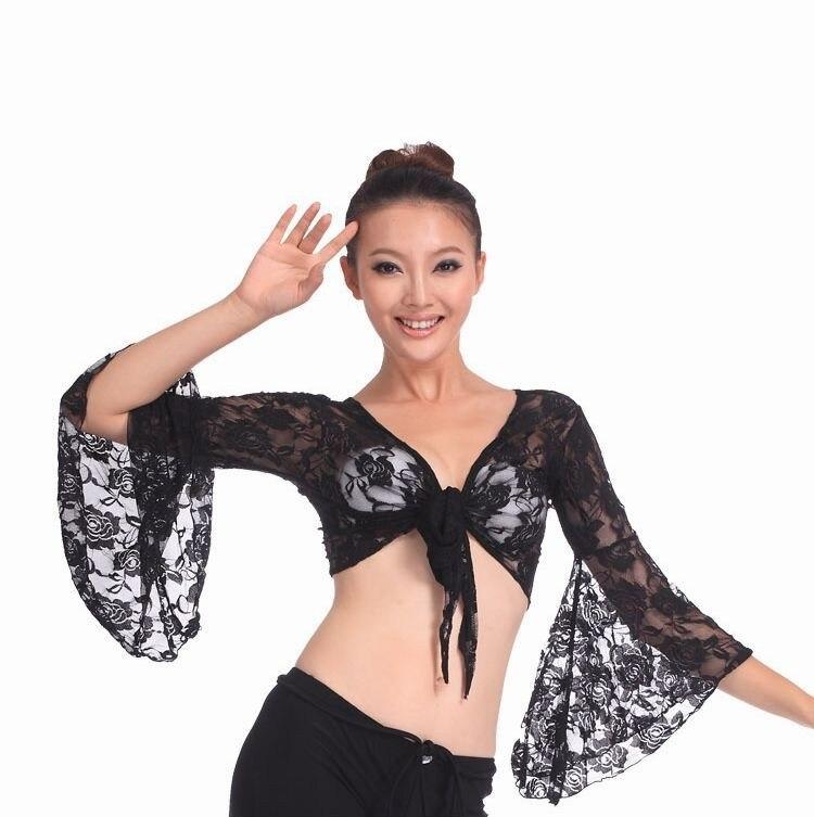 0793de84f8a1b 2016 عالية الجودة مثير النساء الرقص الشرقي قمم الدانتيل الرقص الشرقي الملابس  على بيع