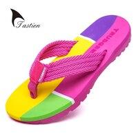 TASTIEN Women Flip Flops Slippers Summer Beach Shoes Female Slippers Flip Flop Ladies Sandals Casual  EVA Mixed Colors