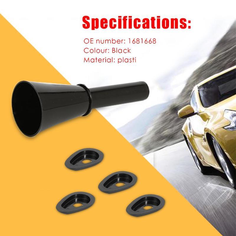 Car Emergency Fuel Gas Petrol Filler Funnel Oil Black For Focus MK2 07-11