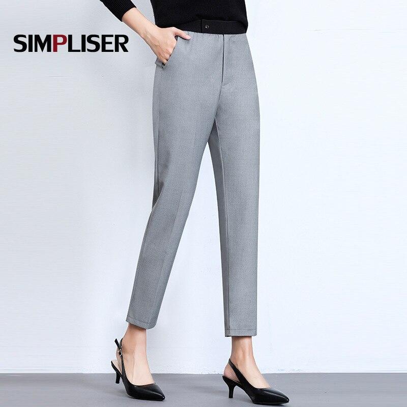 Women Suit   Pants   For OL Office Work Trousers Grey Black Female   Capri     Pants   Plus Size M-4XL Femme Pencil   Pants   Grey Black 2018