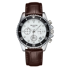 2019 Top Brand Professional Custom Gift Watch Mens Three-eye Six-pin Business High-end Luxury Watches