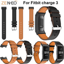 Leather Wristband business Bracelet Replacement For Fitbit Charge 3 Smart Accessories Watchband Bands strap