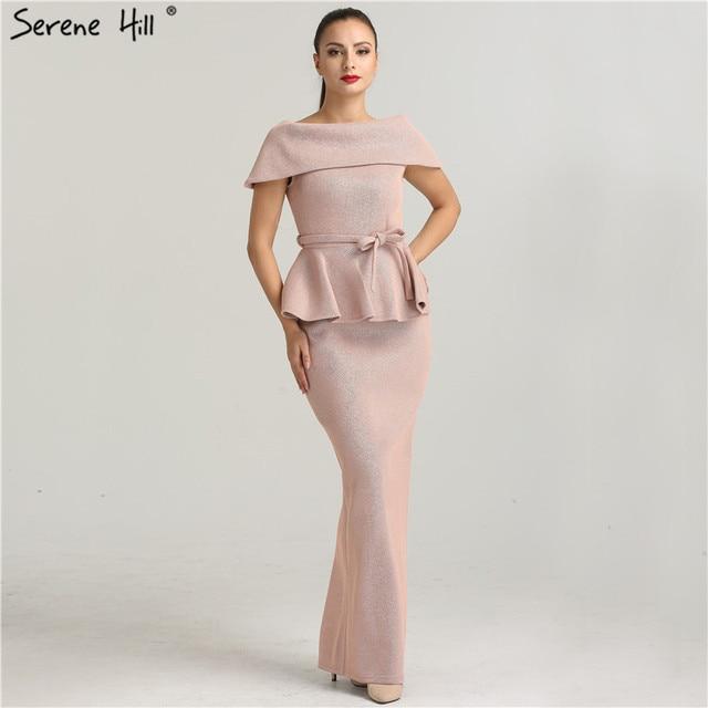 Fashion Elegant Simple Lapel Formal Evening Dresses Real Photo ...