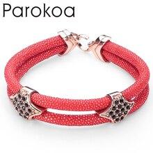 Most Popular Rose Gold Plated Charm Stingray Bracelet For Women And Men Best Friend Gift Pulseira