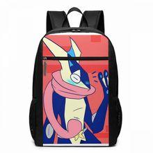 Pokemon Greninja Backpack Says Hi Backpacks Teen Pattern Bag Trending Man - Woman High quality Sports Multi Pocket Bags