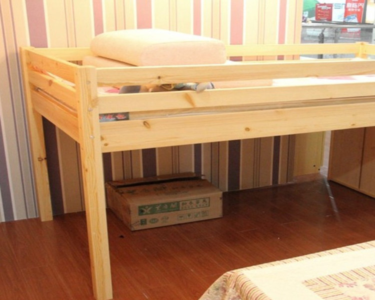 Children S Bed Wood Bunk Beds And A Half High Beds For
