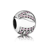 New Pave Crystal Letter Love Ball Charm Beads Genuine 925 Sterling Silver Jewelry Suitable For Pandora
