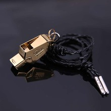 High Quality Gold/Sliver referee soccer Emergency Survival Whistle free laser with lanyard Cheerleading Camping Hiking rugby