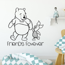 Cartoon Winnie The Pooh Decal Removable Vinyl Mural Poster Living Room Children Pvc Wall Decals