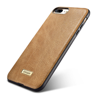 Original Brand Genuine Leather Back Case For IPhone 7 8 Plus Luxury Leather Silicone Cover 360