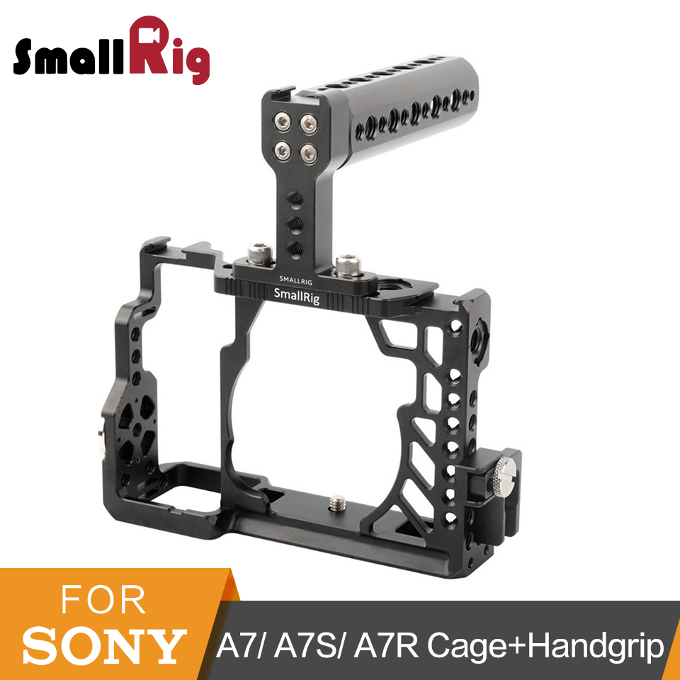 цена на SmallRig A7/A7R/A7S Camera Cage+Handgrip Top Handle+HDMI Cable Clamp Accessories Kit For Sony A7/A7R/A7S Cage -2010