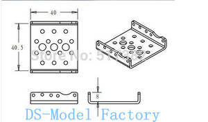Image 4 - Kostenloser versand 10x Seite Halterung für RDS3115 roboter servo Silber sandstrahlen oxidation metall U klammern