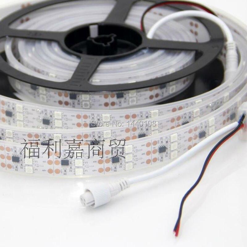 15m/lot waterproof DC12v 5m 450leds 90 pixels/m 5050 smd ws2811 rgb led strip <font><b>lights</b></font>,white pcb,Programmable Addressable