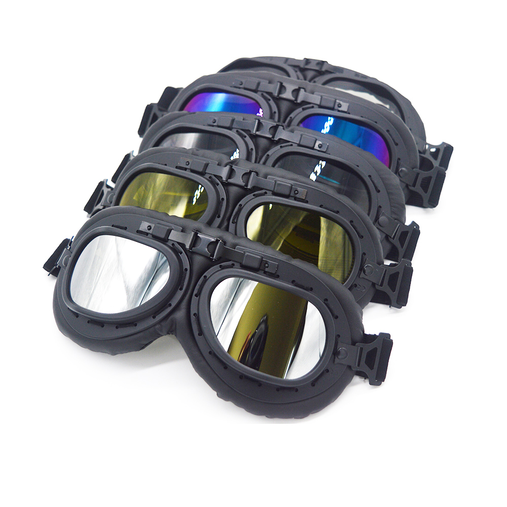 Mooreaxe Motorbike Goggles Glasses Oculos Gafas Cycling Sunglasses Leather Frame UV400 Windproof Retro Vintage Helmet Goggles