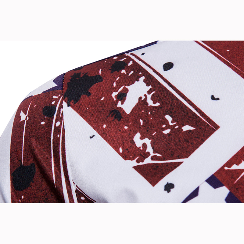 Fashion Tops Casual short Sleeve shirts New Male summer Hide button design printing stars pattern Fit shirt men large size 3XL in Casual Shirts from Men 39 s Clothing