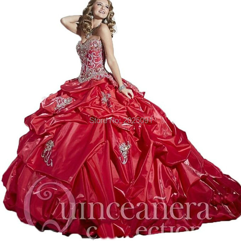 Popular Red and Silver Sweet 16 Dresses-Buy Cheap Red and Silver ...