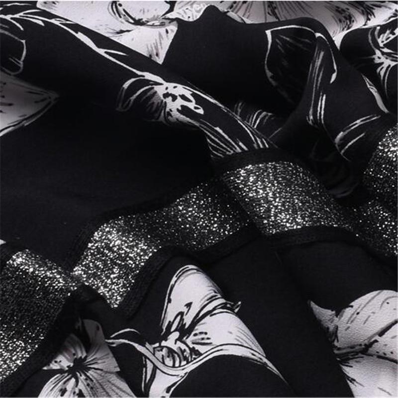 Black Ancho Tamaño De Cintura terciopelo black Pantalón Ma50113 Recta Grande Alta Floral velvet Mujeres Sueltos chiffon Largos Gasa Pantalones Vendimia Elástico PIwTx4q