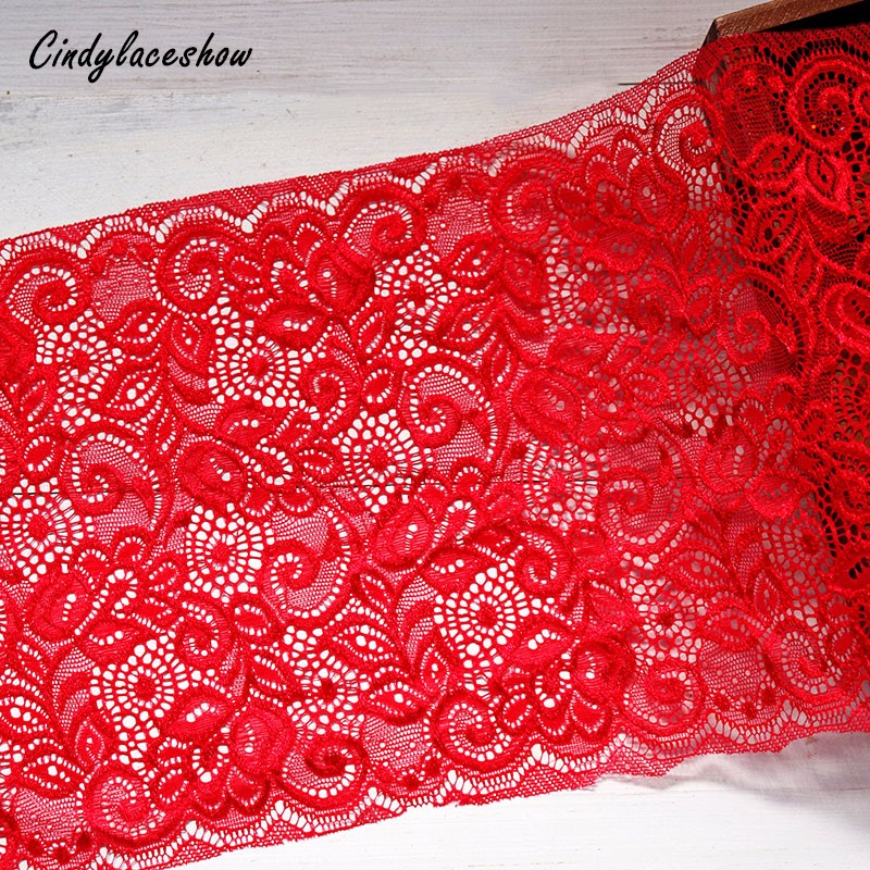 5yds 15cm Width Elastic Stretchy Lace Trim Ribbon for Sewing//Garment//Clothes
