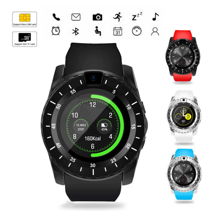 V88 Smart watch Upgraded with Camera/SIM Card version message Calls Reminder Sleep Monitor Remote Music player PK V8 DZ09 A1