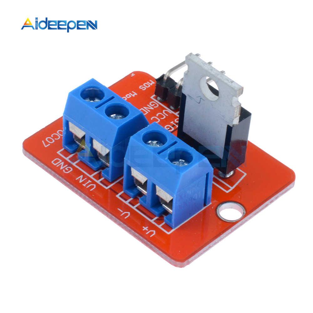 0-24 в топ Mosfet Кнопка IRF520 драйвер MOS модуль MCU ARM Raspberry Pi для Arduino умная электроника