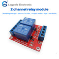 Free shipping 2 Channel 3V 5V 12V 24V Relay Module high/low level trigger RD-DC3V-SL-C devices Relay expansion board