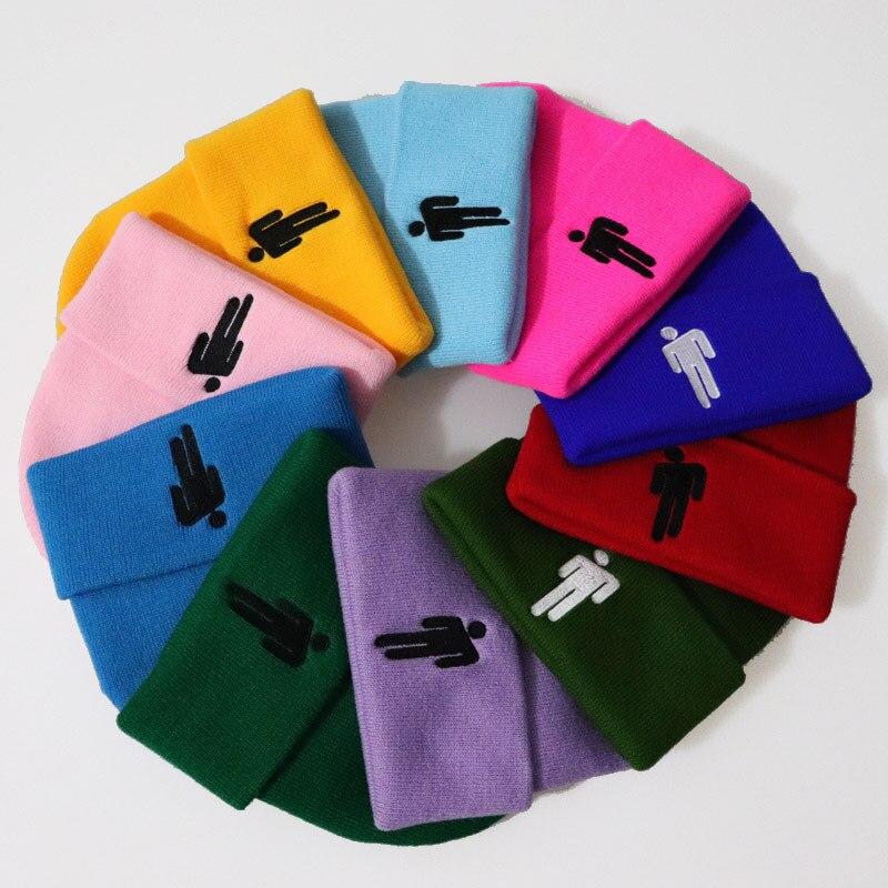 Women Candy colors cartoon Embroidery Ski Beanies Skullies Winter Men's Bone Knitted Hats Autumn Women's Bonnet Homme Gorras