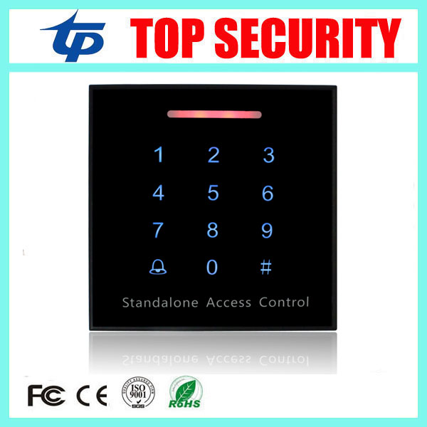 5pcs 800 users RFID card access controller touch keypad standalone single door access control card reader door security system rfid ip65 waterproof access control touch metal keypad standalone 125khz card reader for door access control system 8000 users