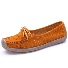 Shoes Woman 2016 suede Leather Women Shoes Flats 4 Colors Loafers Slip On Women's Flat Shoes Moccasins Plus Size 35-40