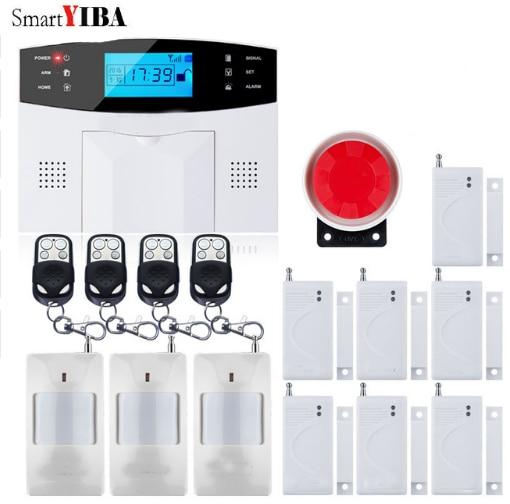 SmartYIBA GSM Home Security Alarm System Wireless Autodial Alarm Door Window Gap Sensors Home Garden Villa Burglar Alarm Kits
