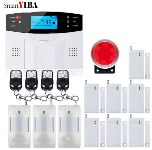 SmartYIBA GSM Home Security Alarm System Wireless Autodial Alarm Door Window Gap Sensors Home Garden Villa Burglar Alarm Kits