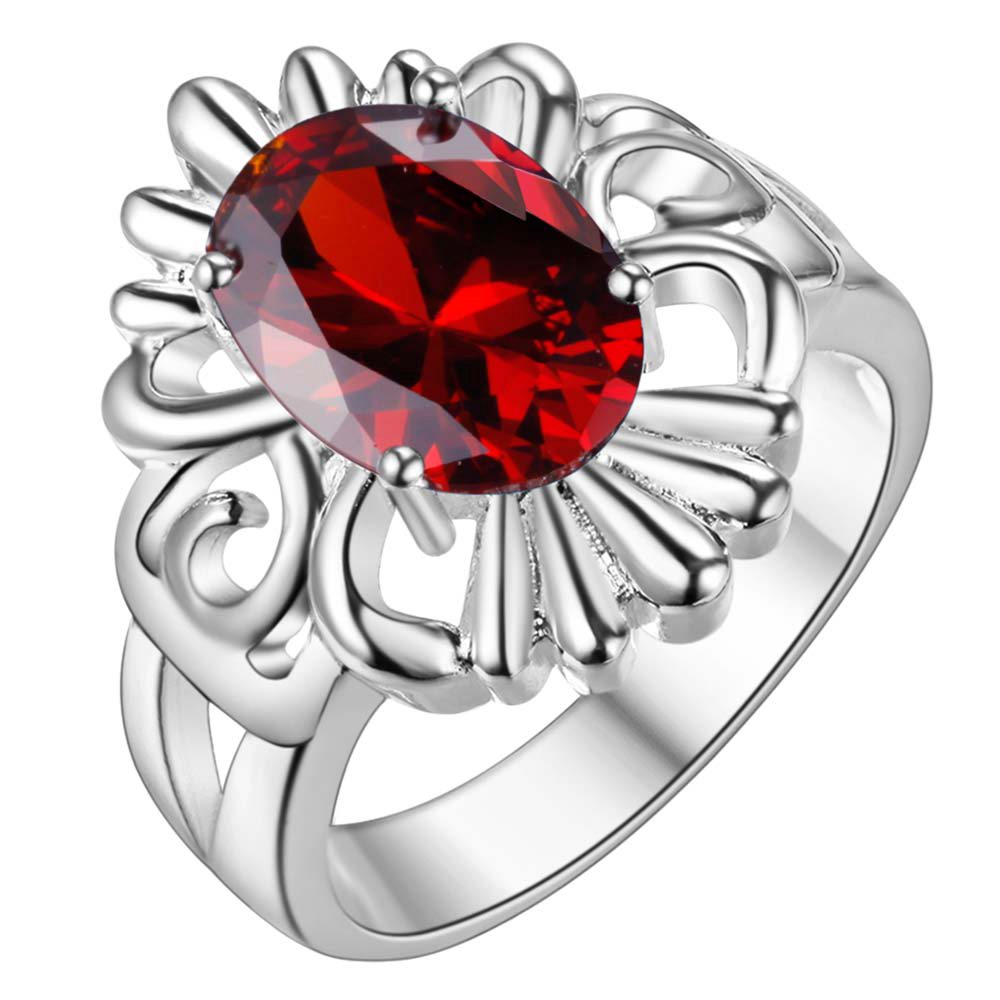Exquisite Silver Jewelry Unique Design Ring Blue Stone Ring Size 8 A Variety Of Colors Ar402 Jewelry & Accessories