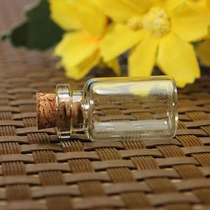 Image 3 - 100PCS Empty Clear Small Glass Bottles Vials Container with Corks Jars 0.5/1/1.5/2/2.5/5 ml