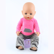 The new 2016doll clothes Wear fit 43cm Baby Born zapf Children best Birthday Gift(only sell clothes)m08
