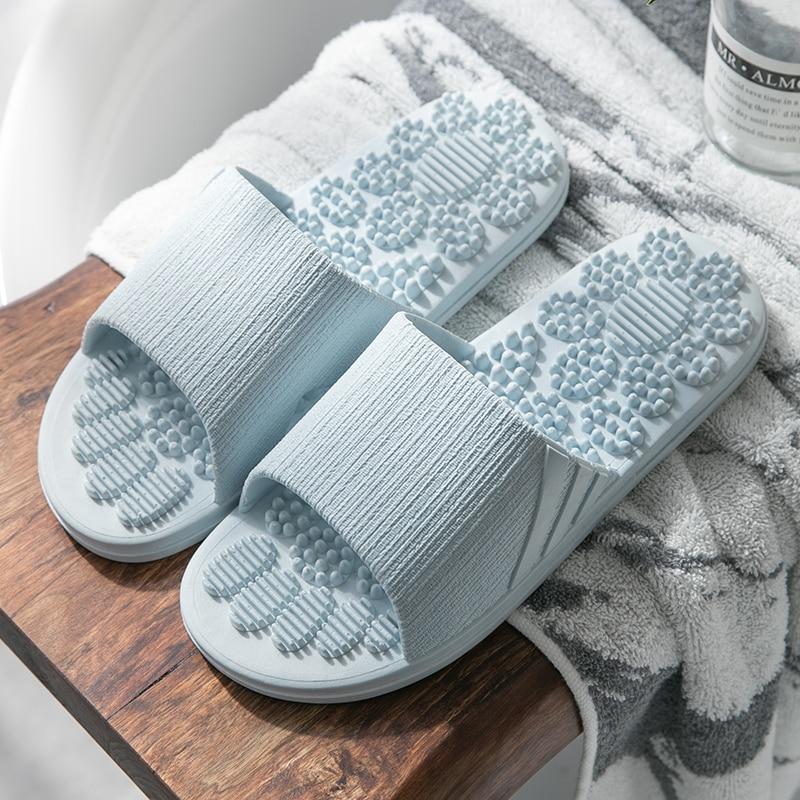 2019 TZLDN Men Women Slippers Summer Fashion Foot Massage Indoor Outdoor Flip Flops Non-slip Lady shoes Beach bathroom slipper 19