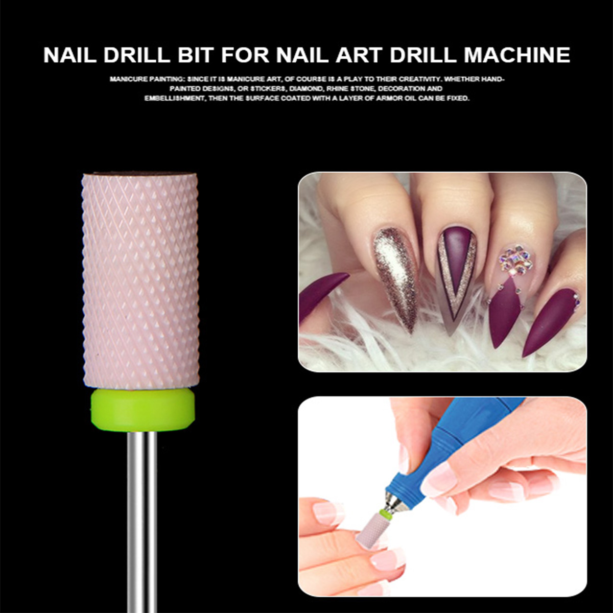 Aliexpress New Ceramic Nail Art Drill Bit For Electric Machine Nails Cuticle Gel Polish Remover Manicure Bur Mill Diy Tool File From