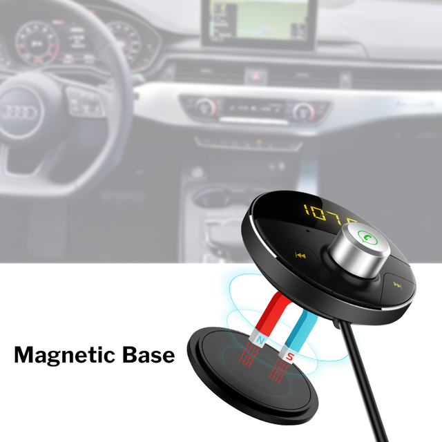 Bluetooth Car Kit Handsfree AUX Receiver Wireless Carkit Auto Speakerphone FM Transmitter Adapter for Mobile Phone Hands Free