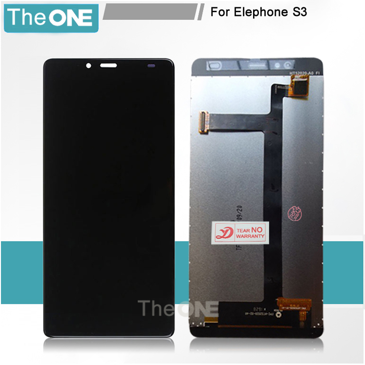 ФОТО For Elephone S3 LCD Display+Touch Screen Panel Glass Replacement Assembly in stock white/black