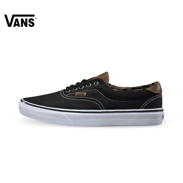 6928fcb2cd Original Vans Classic Black and Blue Color Men s Skateboarding Shoes Sport  Shoes Sneakers