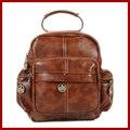 Горячая! натуральная кожа фирменное сумка Старинные Случайный Рюкзак Женщин bolsas mochila feminina школьные сумки для подростков девочек Женские сумки