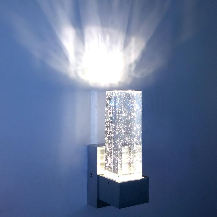 Romantic bubble crystal LED living room bedroom aisle hotel corridor bar KTV aluminum wall lamp