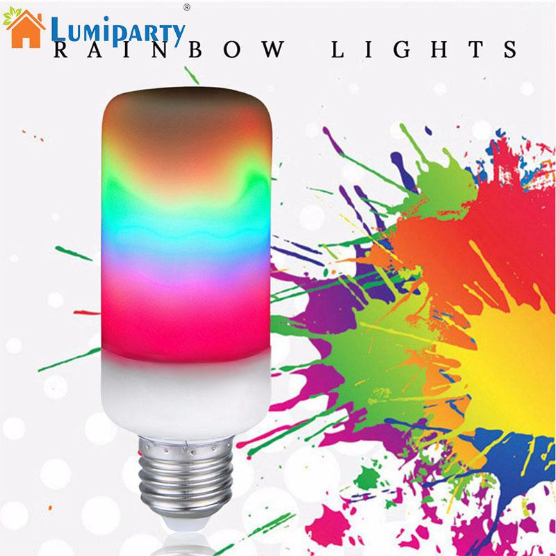 LumiParty LED Bulb 4-colour Charming LED Flame Light 360 Degree Beam Angle Festival Decoration