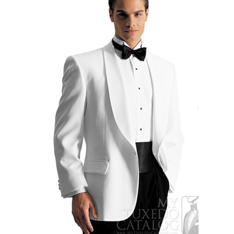 wedding tuxedo shawl collar custom made hand suits white for 2016 groom suit men formal wear