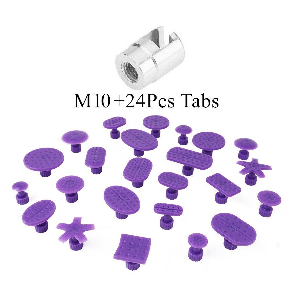 Samochód ze stopu aluminium naprawa wgnieceń ściągacz głowica PDR śruba adapter porady dla młotek ślizgowy i ciągnięcie Tab M10 PDR klej Tabs w Zestawy narzędzi ręcznych od Narzędzia na