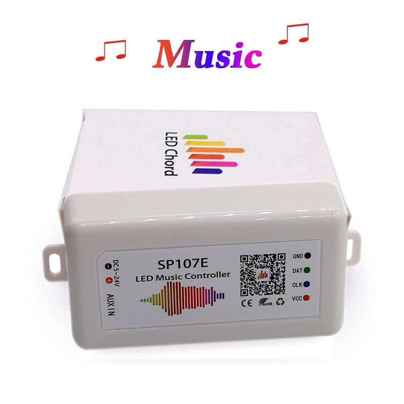 SP107E Musik Bluetooth LED Controller full farbe RGB SPI Steuer durch telefon APP für 2812 2811 1903 LED Streifen Licht band, DC5V-24V