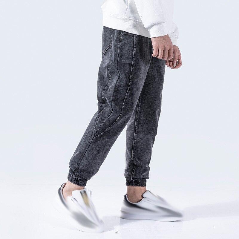Bolsillo Hop Cintas Negro Jeans Pantalón Elástico Para Hip 2019 Pantalones Cintura Hombre Pantalon Streetwear Zw18x0qd