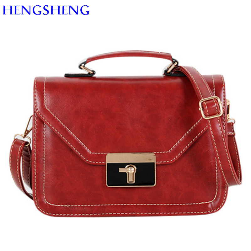 HENGSHENG cheap price women crossbody bag with top quality pu font b leather b font women