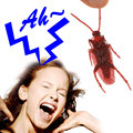 50pcs/lot Prank Funny Trick Joke Toy Special Lifelike Model Simulation Fake Rubber Cockroach for April Fools Day