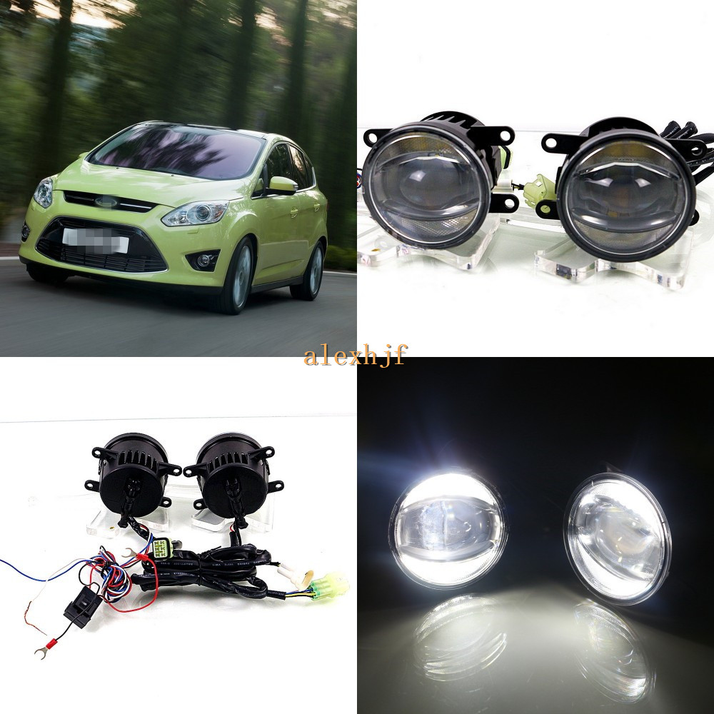 July King 1600LM 24W 6000K LED Light Guide Q5 Lens Fog Lamp +1000LM 14W Day Running Lights DRL Case for Ford C-Max 2010-2015 july king 1600lm 24w 6000k led light guide q5 lens fog lamp 1000lm 14w day running lights drl case for ford focus ii iii 06 14