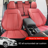 QHCP Microfiber Leather Automobiles Car Seat Cover 5 Seats 5D all surrounded Auto Accessories Fit For Lexus NX 200 300 200T 300H